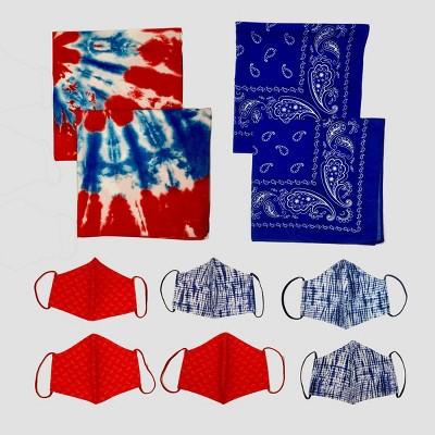 4ct Bandana & 6ct Mask Red/White/Blue - Bullseye's Playground™