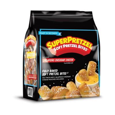 SuperPretzel Frozen Pretzel Bites with Jalapeno Cheese - 21.78oz