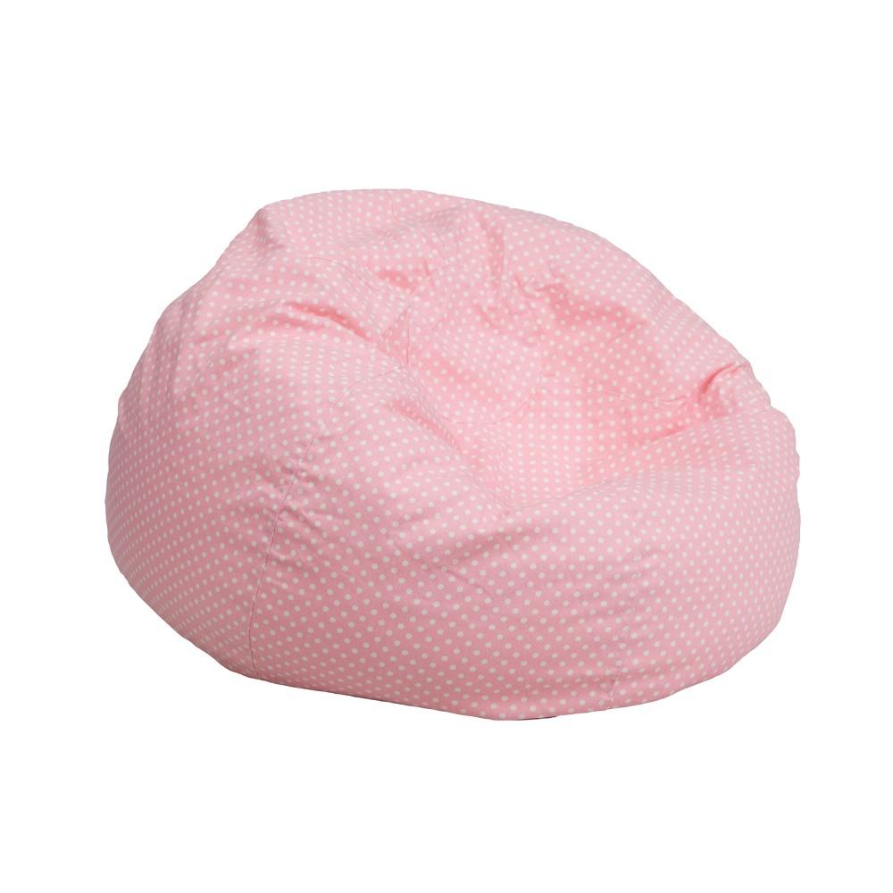 Riverstone Furniture Collection Dot Bean Bag Chair Light Pink Dot