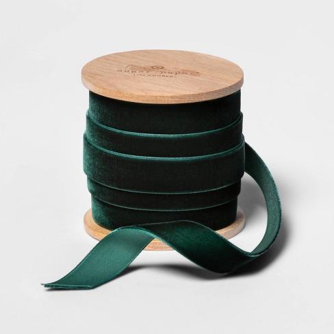 "5/8"" Green Velvet Ribbon 5yd - sugar paper™ - image 1 of 4"