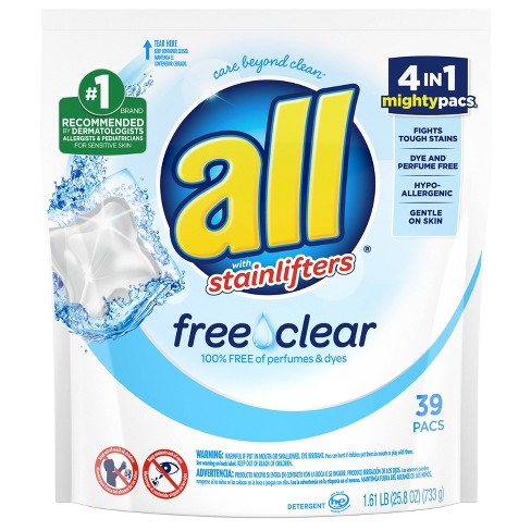 All Mighty Free Clear for Sensitive Skin Laundry Detergent Pacs - 39ct - image 1 of 3