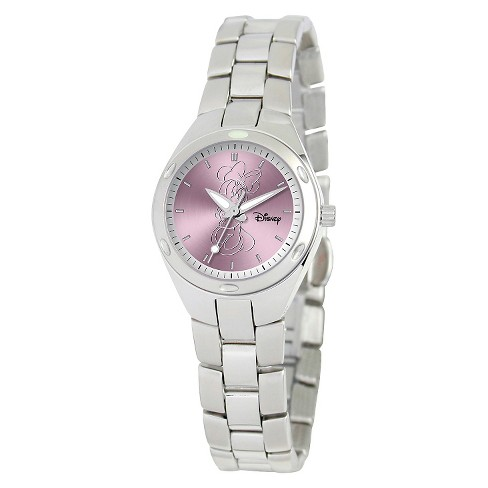 Women's Disney® Minnie Mouse Fortaleza Watch - Silver - image 1 of 2