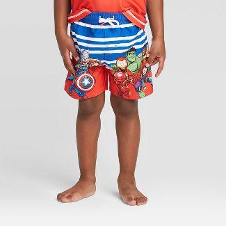 Toddler Boys' Avengers Swim Trunks - Blue 5T