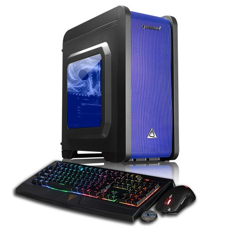 CybertronPC Palladium GXH7408T Gaming PC with Intel Core i7-7700K Processor, NVIDIA GeForce GTX 1070 Graphics - Black/Blue - image 1 of 7