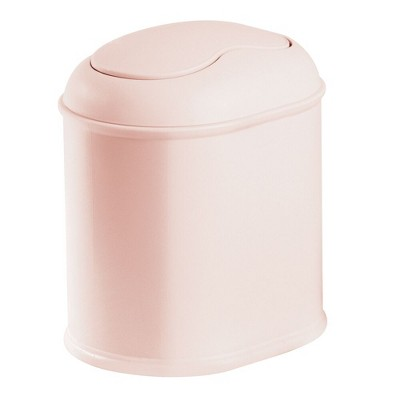 mDesign Mini Trash Can with Swing Lid for Bath Vanity