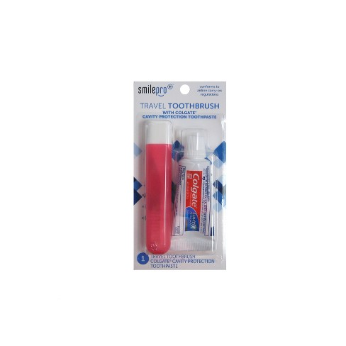 Smilepro Travel Toothbrush/Toothpaste Kit - image 1 of 4