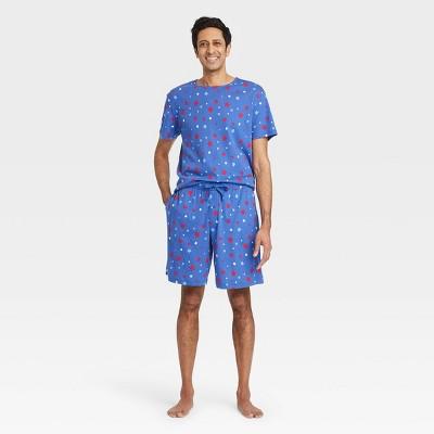 Men's Americana Stars Matching Family Pajama Set - Blue