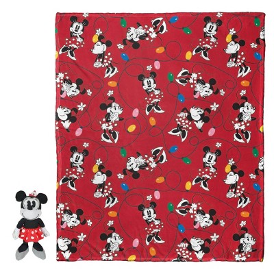 Minnie Mouse Knit Throw and Pillow Set