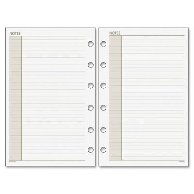 "Acco Plnr Note Pages Refill 8-1/2""x11' 30Shts Rld Blks WE 018200"
