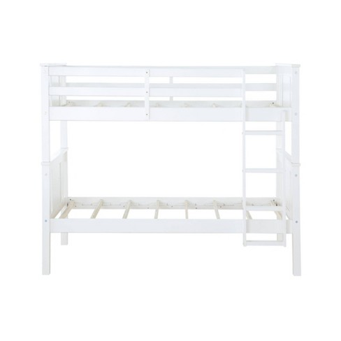 Twin Over Twin Miller Wood Bunk Bed White - Dorel Living - image 1 of 4
