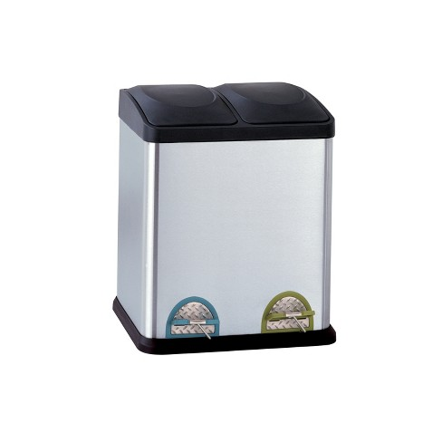 Neu Home Step Open Trash Can Shiny Silver - image 1 of 3