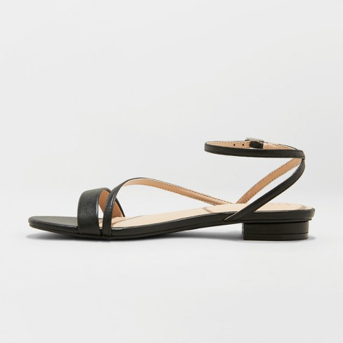 929ccafd9d9 Women s Isma Barely There Ankle Strap Sandals - A New Day™ Black 7.5 ...