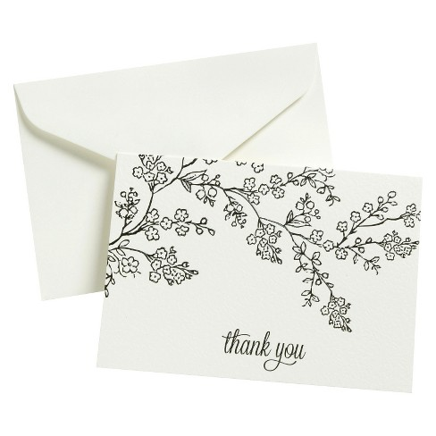 Thank You - 50 Ct FLP Blk Line Floral - image 1 of 1