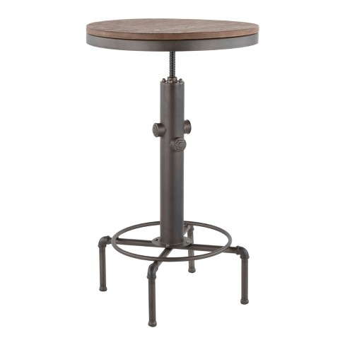 Hydra Industrial Adjustable Bar Table Antique - LumiSource - image 1 of 4