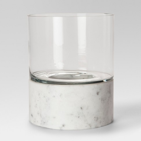 Marble Hurricane Candle Holder Large White Project 62 Target