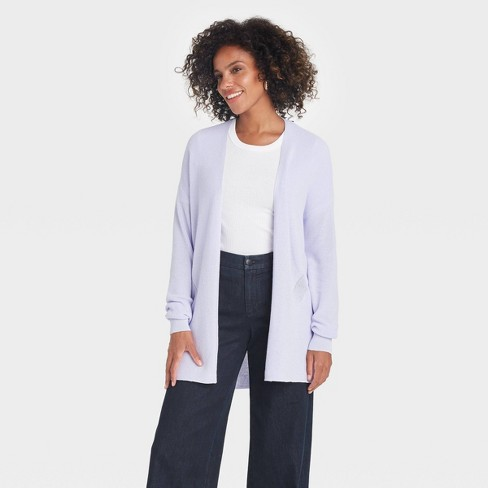 Women's Essential Open Front Cardigan - A New Day™ - image 1 of 3