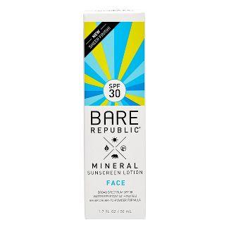 Bare Republic Mineral Face Sunscreen Lotion - SPF 30 - 1.7 fl oz
