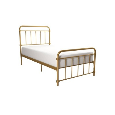 Twin Waldorf Metal Bed Gold - Room & Joy