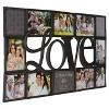 """26.9"""" """"LOVE"""" Collage Frame Black - Gallery Solutions - image 2 of 3"""