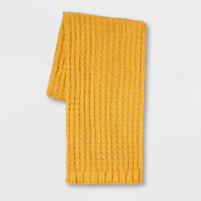 Solid Chenille Throw Gold - Threshold™