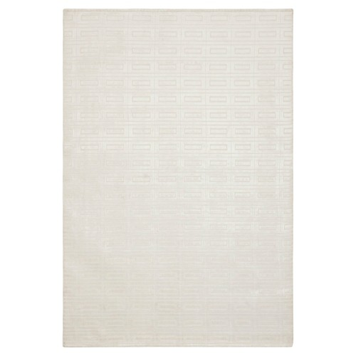 Pearl (White) Geometric Knotted Area Rug - (8'X10') - Safavieh