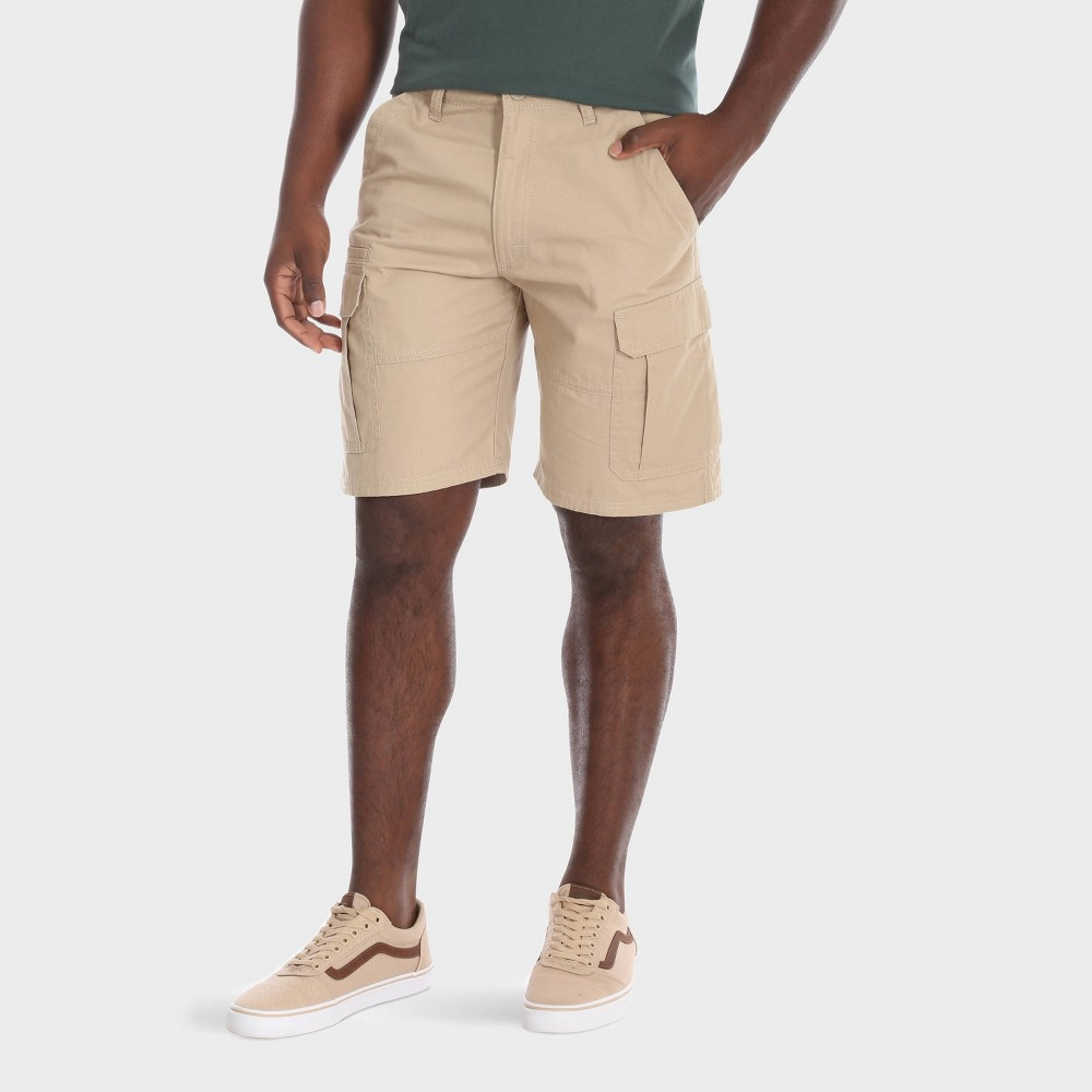 Wrangler Men's Big & Tall 10 Cargo Twill Ripstop Shorts - Camel 44