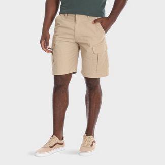 "Wrangler Mens 10"" Cargo Twill Ripstop Shorts - Camel 34"