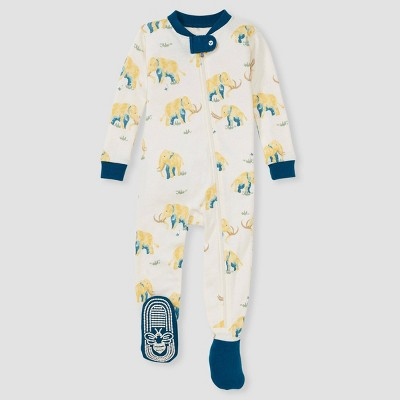 Burt's Bees Baby® Baby Boys' Wooly Mammoth Footed Pajama - Blue 12M