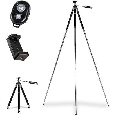 "KODAK PhotoGear 42"" Tripod | 8-Section Aluminum Stainless Steel Tripod w/Bluetooth Remote, Telescoping Leg-Lock Height Adjustment, 360° Ball Head, Rubber Feet, Smartphone Adapter E-Guide & Carry Case"