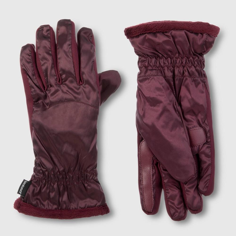 Image of Isotoner Women's Sleek Heat Glove - Plum One Size, Women's, Purple