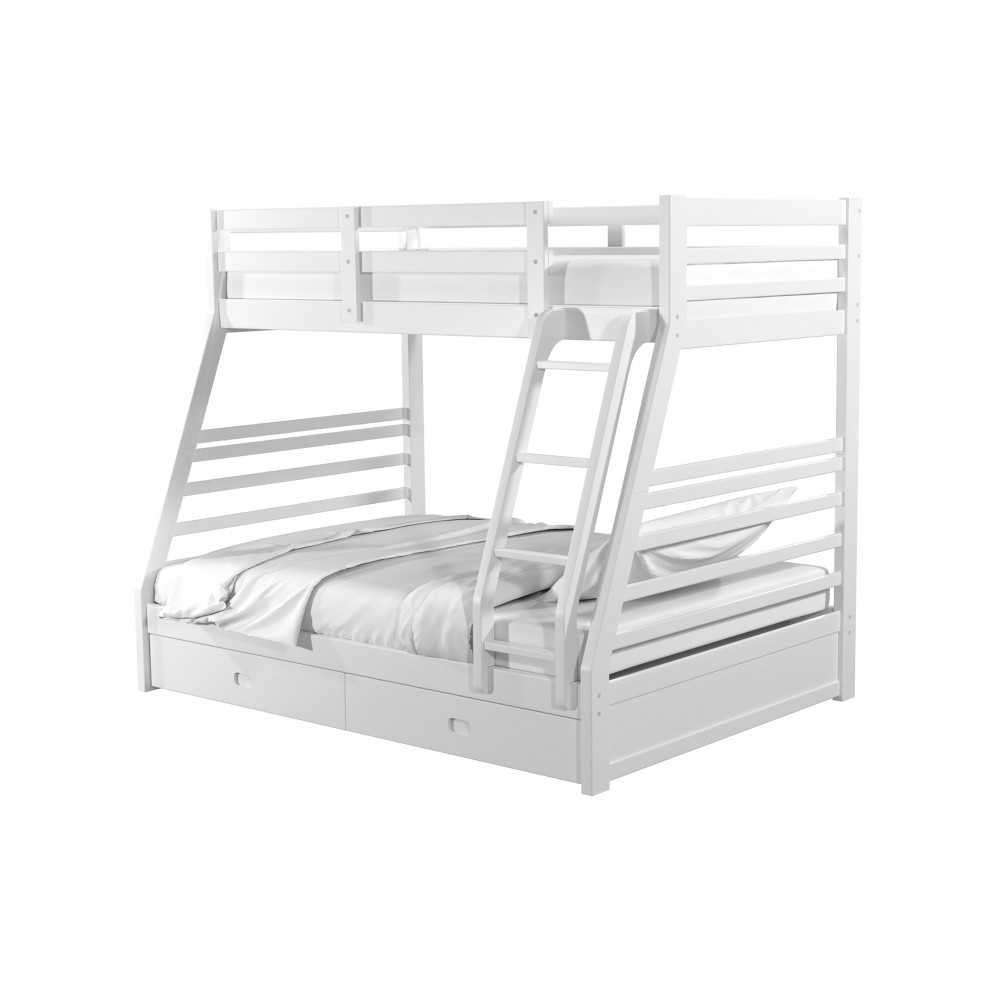 Sam Kids Bunk Bed Twin/Full Winter White - Homes: Inside + Out