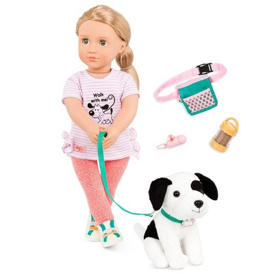 "Our Generation 18"" Dog Trainer Doll with Plush Pet & Accessories - Hazel"
