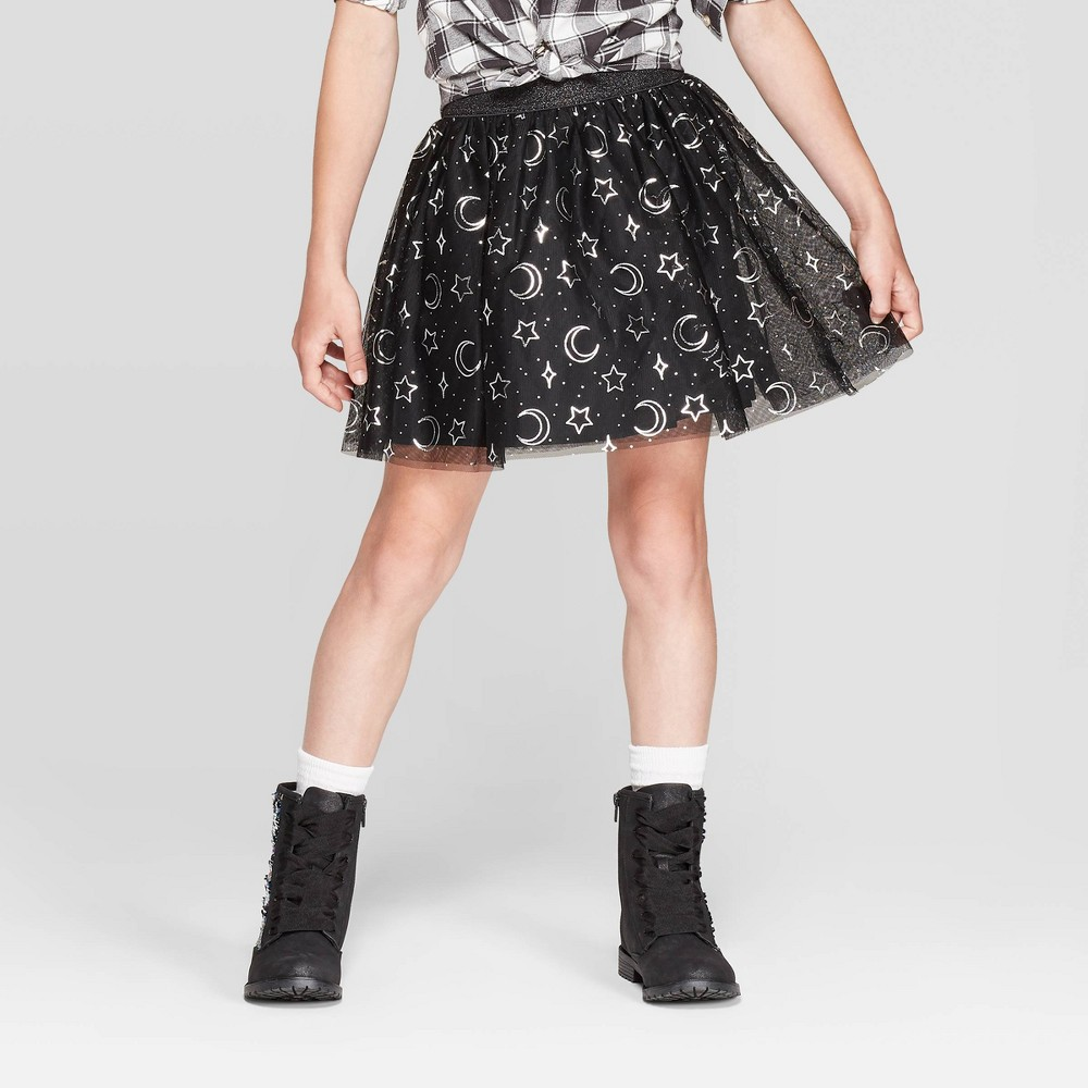 Image of Girls' Halloween Tutu Skirt - Cat & Jack Black L, Girl's, Size: Large