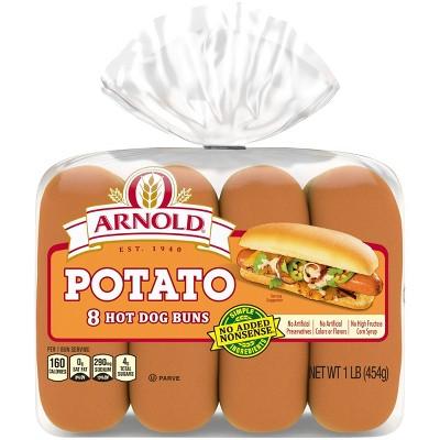 Arnold Potato Hot Dog Buns - 15oz/8ct