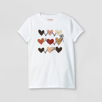 Girls' Everybody Graphic Short Sleeve T-Shirt - Cat & Jack™ White