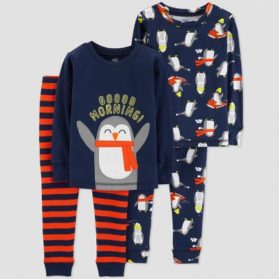 Baby Boys' Penguin 4pc Pajama Set - Just One You® made by carter's Blue 9M