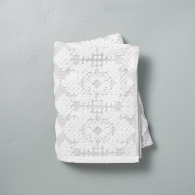 Geo Medallion Bath Towel Jet Gray - Hearth & Hand™ with Magnolia