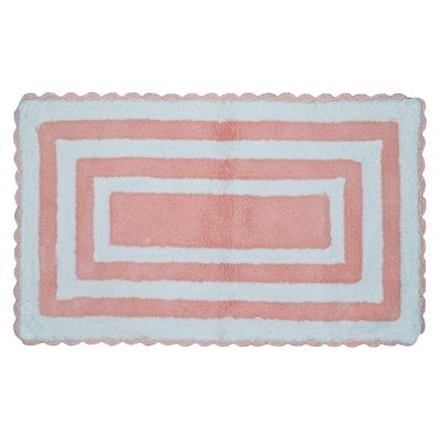 Striped Bath Rug Pink - Pillowfort™