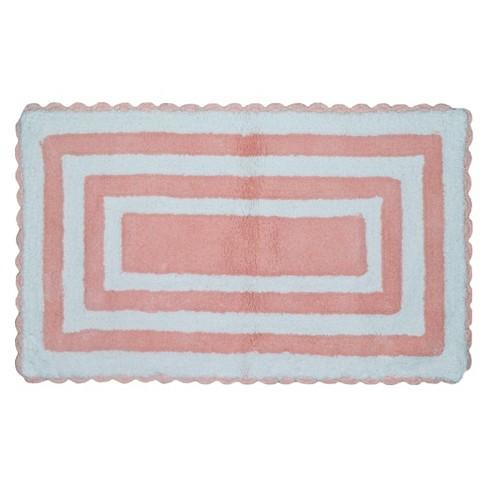 Striped Bath Rug Pink - Pillowfort™ - image 1 of 1