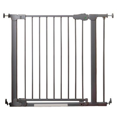Qdos AutoClose SafeGate Baby Gate - Pressure Mount - Slate Gray