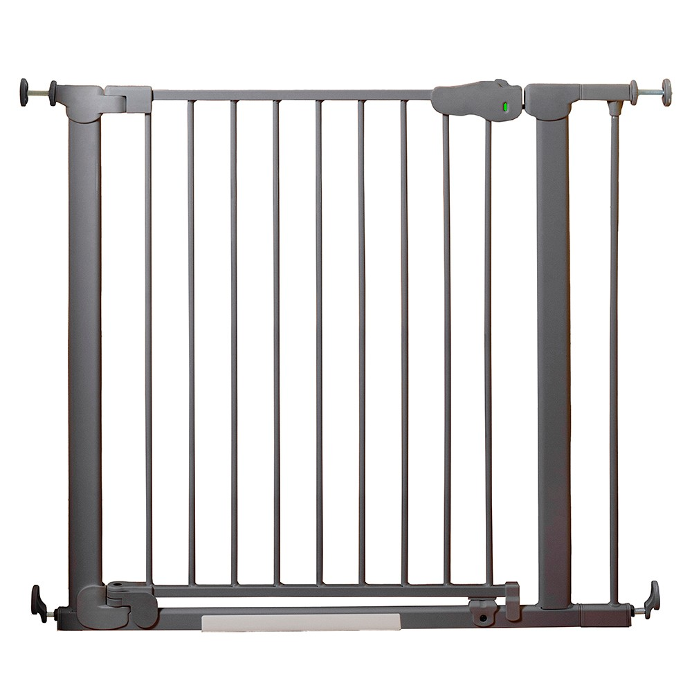 Image of Qdos AutoClose SafeGate Baby Gate - Pressure Mount - Slate Gray, Grey Gray