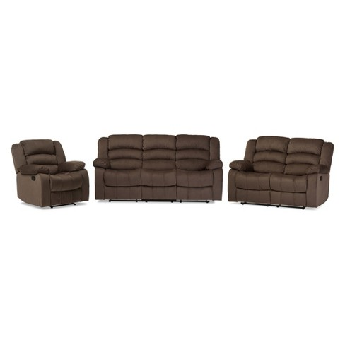 Hollace Modern And Contemporary Microsuede Sofa Loveseat And Chair ...