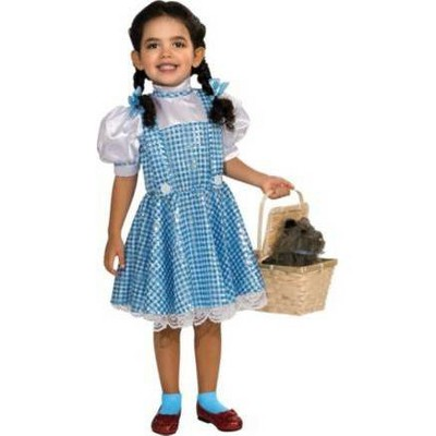 Kids' Wizard of Oz Dorothy Halloween Costume Dress with Hair Bow