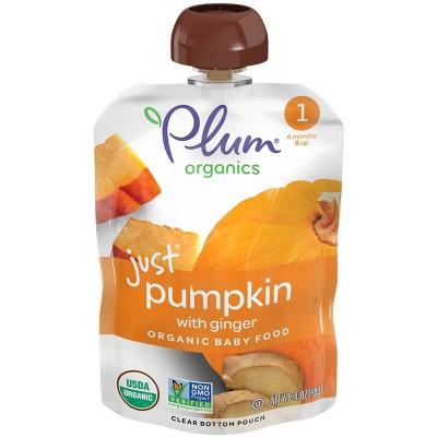 Plum Organics Stage 1 Veggie Just Pumpkin with Ginger Baby Meals - 3.5oz