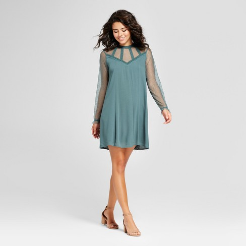 a2266e61af7 Women s Lace Yoke Shift Dress - Xhilaration™ (Juniors )   Target