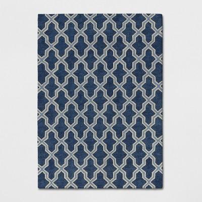 5'X7' Trellis Tufted Area Rugs Blue - Threshold™