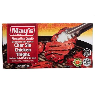 May's Hawaiian Style Boneless & Skinless Char Siu Chicken - Frozen - 32oz