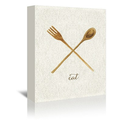 Americanflat Linen Kitchen Trio C by Samantha Ranlet Wrapped Canvas