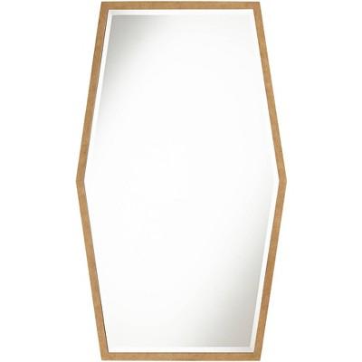 """Noble Park Ayva Gold 28"""" x 47"""" Hexagon Wall Mirror"""