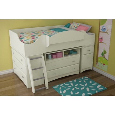 Twin Bed With Storage.Imagine Storage Loft Kids Bed White Twin South Shore